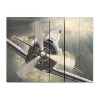 Dive Bomb - 33x24 Indoor/Outdoor Full Color Cedar Wall Art