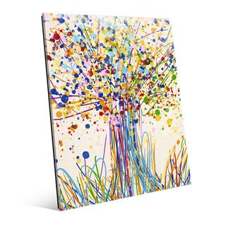 'Splatter Tree I' Wall Art Print on Glass