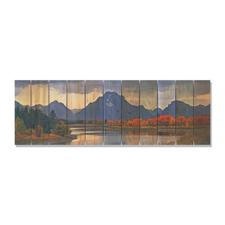 Mountain Paradise 60x20 Indoor/Outdoor Full Color Cedar Wall Art