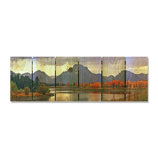 Mountain Paradise 32x11 Indoor/Outdoor Full Color Cedar Wall Art
