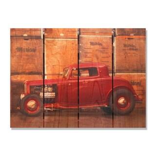 Deuce Coupe 22x16 Indoor/Outdoor Full Color Cedar Wall Art