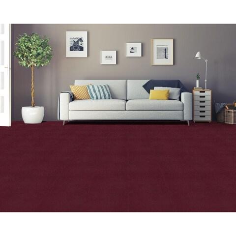 Achim Nexus Burgundy Self Adhesive Carpet Floor Tile (12 Tiles)
