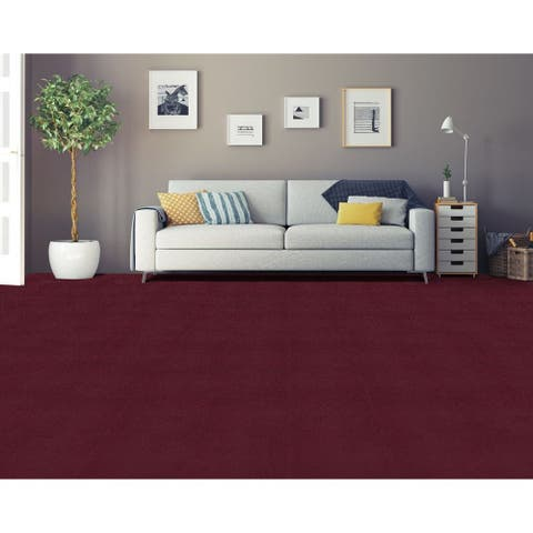 Achim Nexus Burgundy Self Adhesive Carpet Floor Tile (12 Tiles)