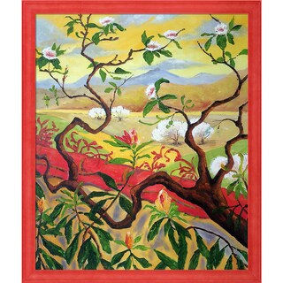 Paul-Elie Ranson 'Japanese Style Landscape' Hand Painted Framed Oil Reproduction on Canvas