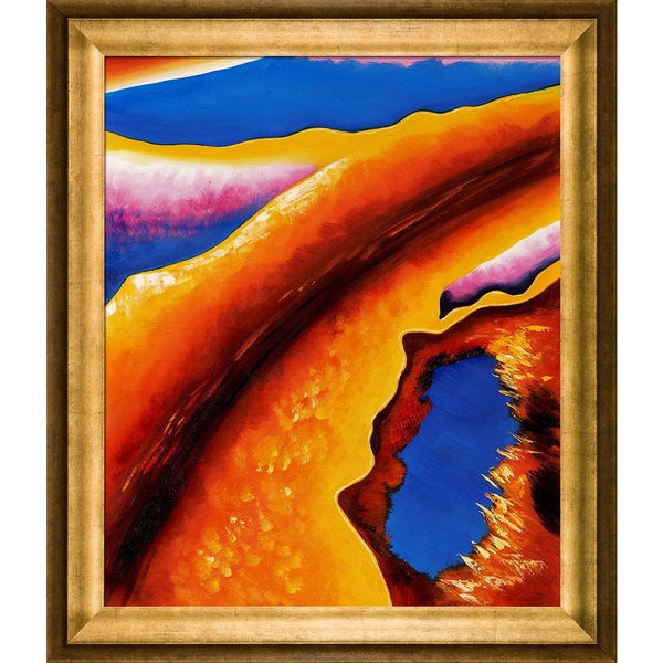 Shop Georgia O'Keeffe 'Only One' Hand Painted Framed Oil ... on