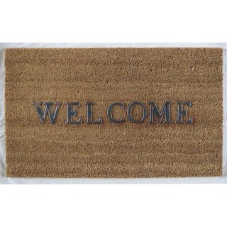 Home Fashion Designs Hadley Collection Coir Brushed Welcome Mat Welcome Design