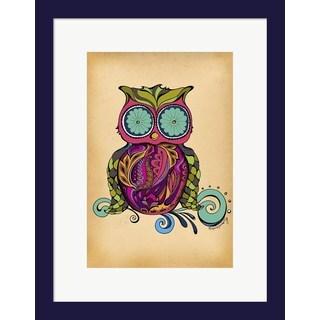 Green Girl Canvas 'Owl' Framed Art