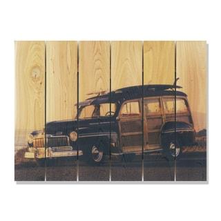 Surf's Up 33x24 Indoor/Outdoor Full Color Cedar Wall Art