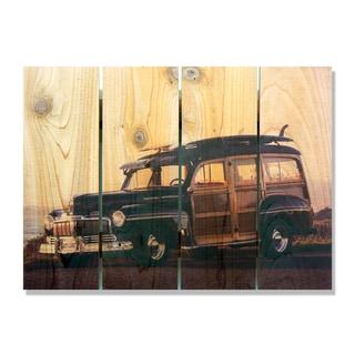 Surf's Up 22x16 Indoor/Outdoor Full Color Cedar Wall Art