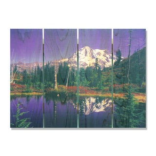 Mirror Lake 22x16 Indoor/Outdoor Full Color Cedar Wall Art