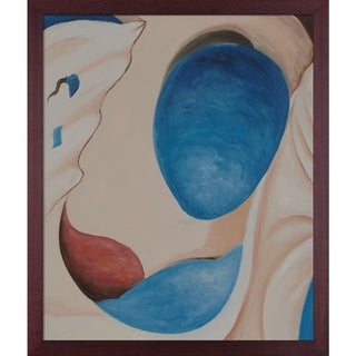 Georgia O'Keeffe 'Pelvis II, 1944' Hand Painted Framed Oil Reproduction on Canvas