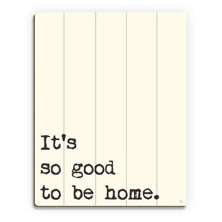'So Good to Be Home' Wood Manilla Wall Art Print