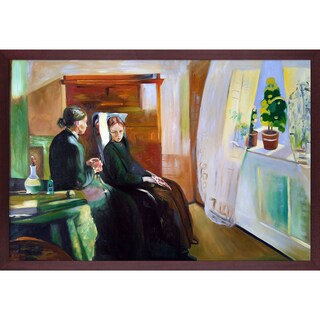 Edvard Munch 'Spring, 1889' Hand Painted Framed Oil Reproduction on Canvas