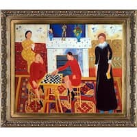 Henri Matisse 'The Artist's Family' Hand Painted Framed Oil Reproduction on Canvas