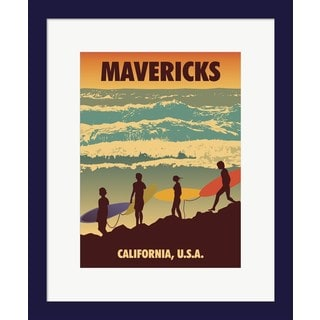 American Flat 'Mavericks' Framed Art