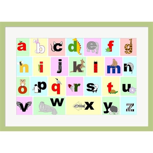 Veruca Salt 'Animal Alphabet' Framed Art