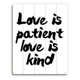 'Love is Patient, Kind' Wood Wall Art Print