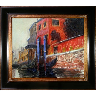 Claude Monet 'The Red House' Hand Painted Framed Oil Reproduction on Canvas