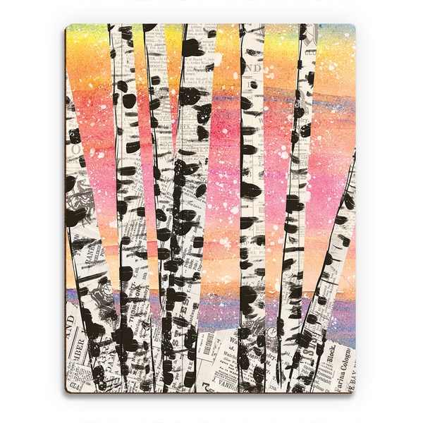 'Winter Aspens' Beta Wall Art Print on Wood
