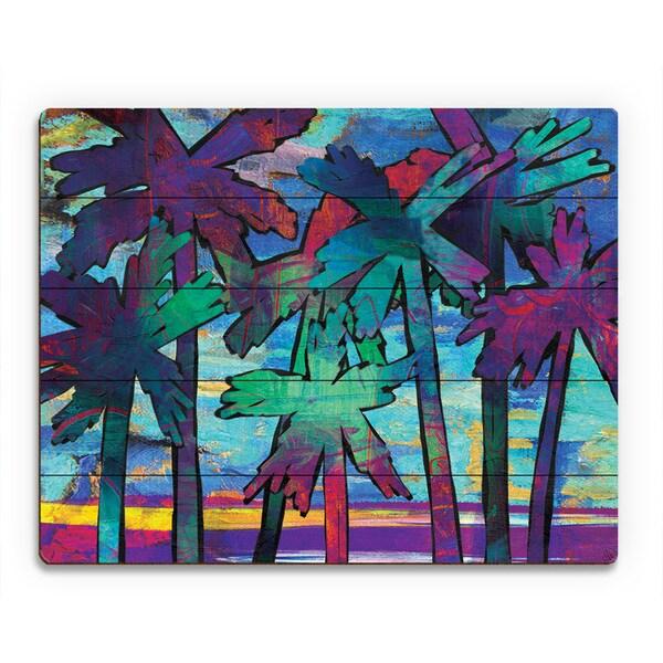 Shop Psycho Palms Alpha Wall Art Print on Wood - On Sale