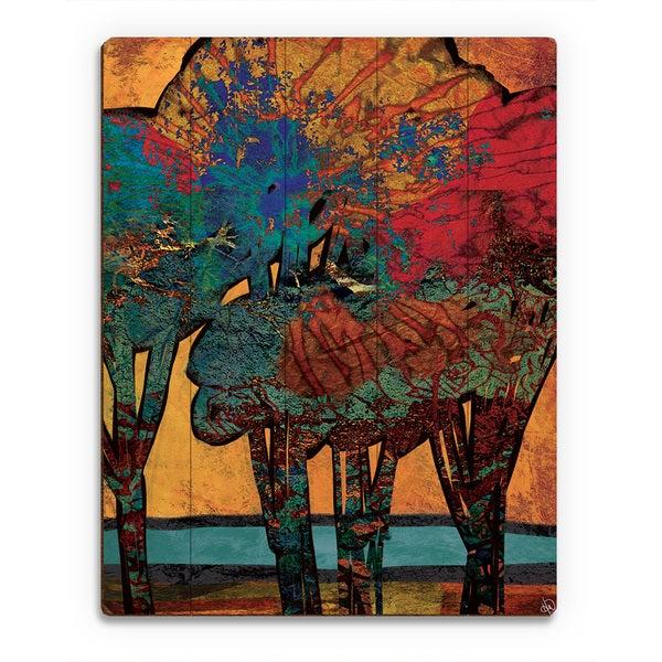 'Time Trees' Alpha Wall Art Print on Wood