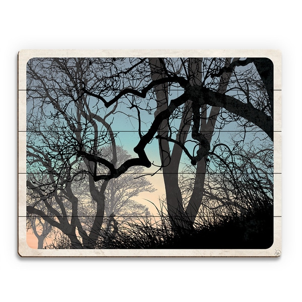 'Lost Wood's Horizon' Wood Wall Art Print