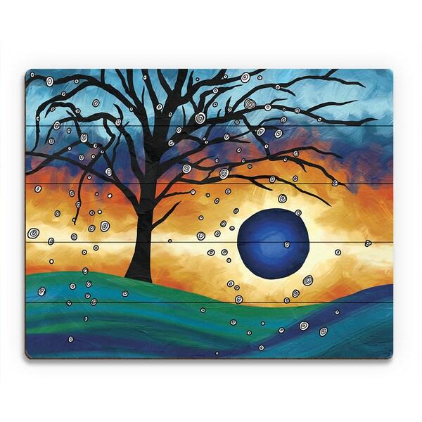 'Edge Of The Sunset Alpha' Wood Wall Art Print