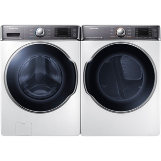 Samsung 9.5 cu. ft. Front-Load Washer and Electric Dryer