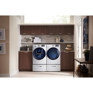 Samsung White 27-in Front Load Washer and Gas Dryer