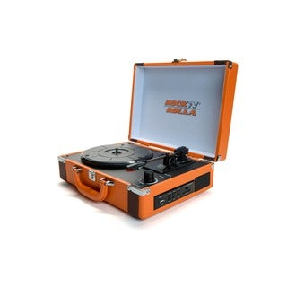 ROCK 'N' ROLLA Premium Rechargeable Portable Briefcase Turntable w/Bluetooth