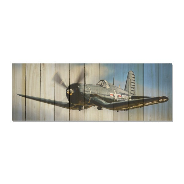 American Ace 60x20 Indoor/Outdoor Full Color Cedar Wall Art