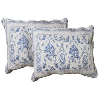 Patch Magic Blue Wisteria Lattice Standard Pillow Shams (Set of 2)
