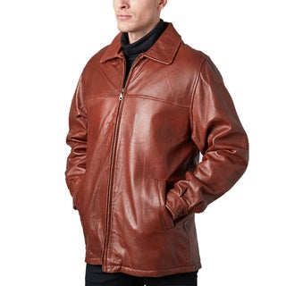 Men's Cognac Lamb Leather Jacket