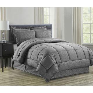 8-Piece Vine Grey Down Alternative Bed-In-Bag