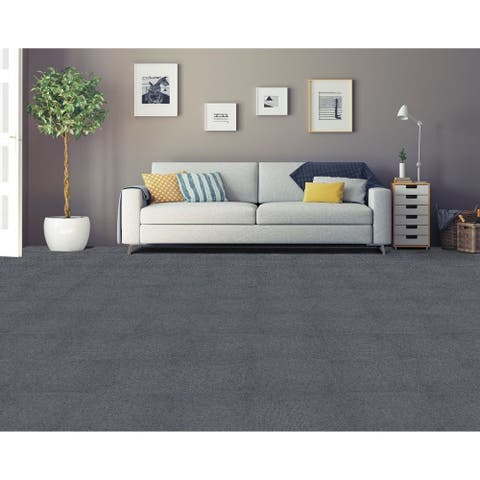Achim Nexus Smoke Self Adhesive Carpet Floor Tile (12 Tiles)