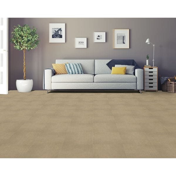 Achim Nexus Tan Self Adhesive Carpet Floor Tile (12 Tiles)
