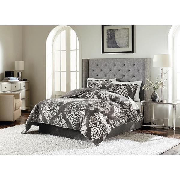 Lenox Damask Velvet Plush Comforter Set