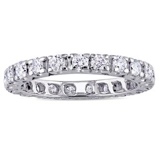 Miadora Signature Collection 14k White Gold 1ct TDW Diamond Full Eternity Band (G-H, SI1-SI2)