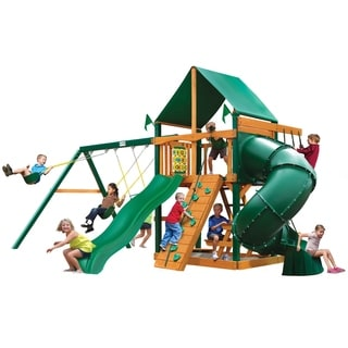 Gorilla Playsets Mountaineer w/ Timber Shield and Deluxe Green Vinyl Canopy