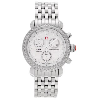 Michele Women's MWW03M000001 'CSX-36' Stainless Steel 3/5 CT TDW Diamond Mother of Pearl Dial Link Bracelet Watch
