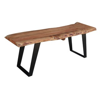 Timbergirl Solid Wood Live Edge Bench