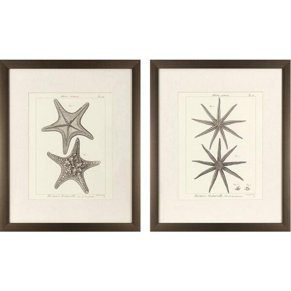 Set of 2 Striking Starfish in Golden Bronze Finish Frame - Free ...