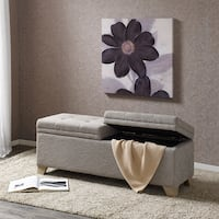 Madison Park Jaxon Grey Multi Storage Bench