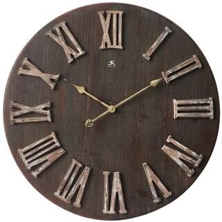 Infinity Instruments Barn Door 27.5-inch Round Wall Clock