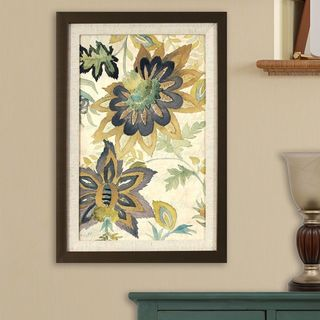 Damask Florals in Golden Bronze Finish Frame
