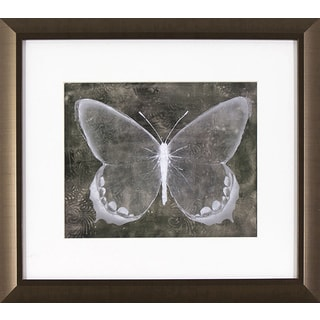 Sepia Butterfly in Golden Bronze Finish Frame