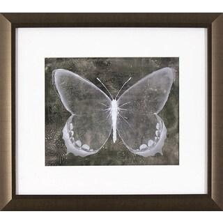 Sepia Butterfly in Golden Bronze Finish Frame