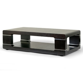 Airlie Modern Coffee Table with Silver Metal Accent