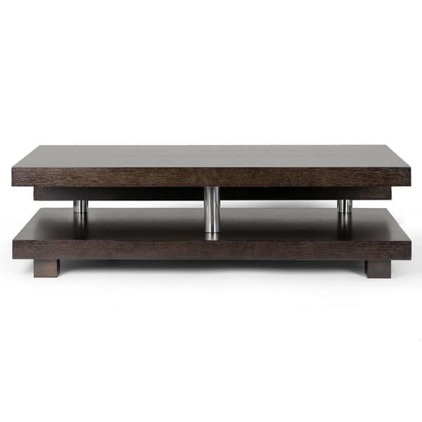 Shop Alain Modern Coffee Table With Decorative Accent Bar On Sale