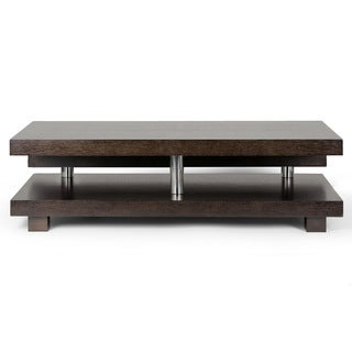 Alain Modern Coffee Table with Decorative Accent Bar